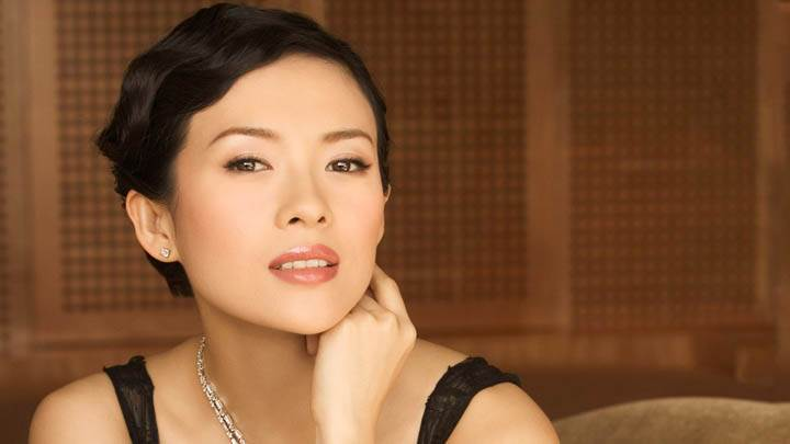 Zhang Ziyi Red Lips Face Closeup Photoshoot