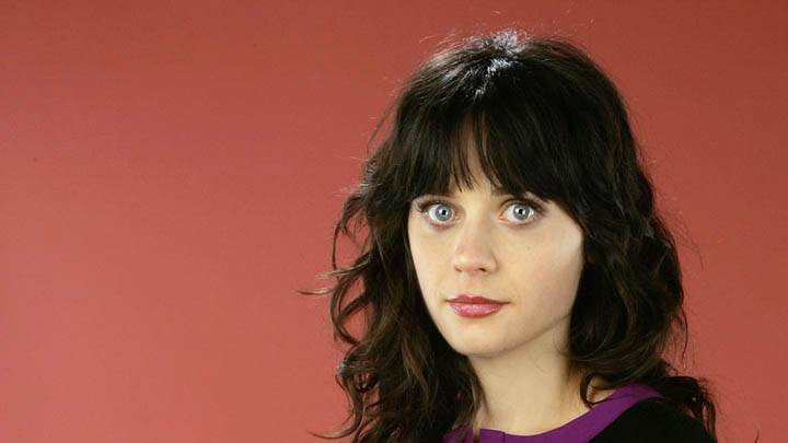 Zooey Deschanel Face Closeup Studio Photoshoot