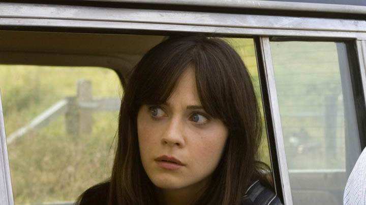 Zooey Deschanel Sitting In Car In The Happening