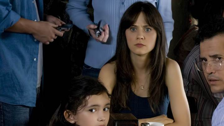 Zooey Deschanel Sitting With People In The Happening