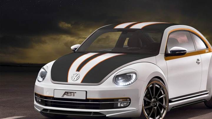 ABT Volkswagen Beetle – Side Front Pose in White