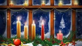 Candle Lighted At Christmas Day