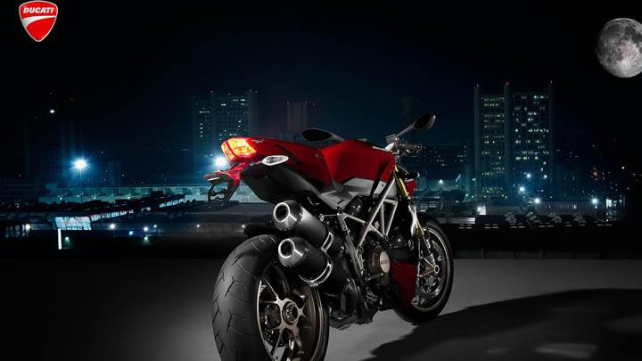 Ducati Standing In Night