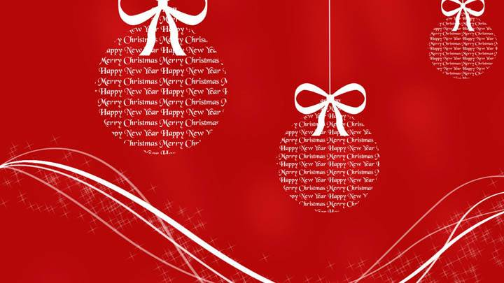 Merry Christmas Red Baloons & Background