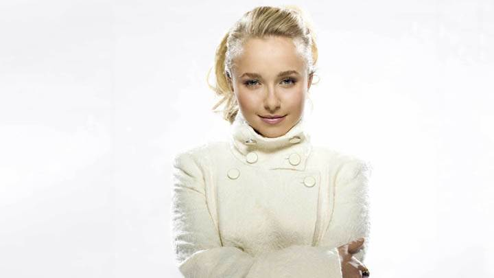 Hayden Panettiere Cute Eyes In White Dress