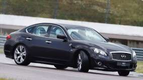 Infiniti M37S in Black Color On Racing Course