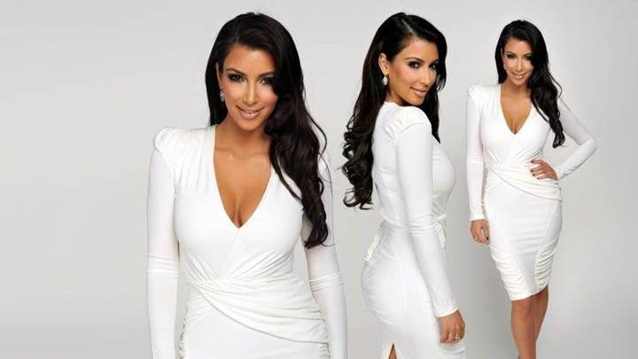 Kim Kardashian In White Dress Photoshoot