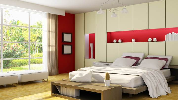 Lovely Red Bedroom