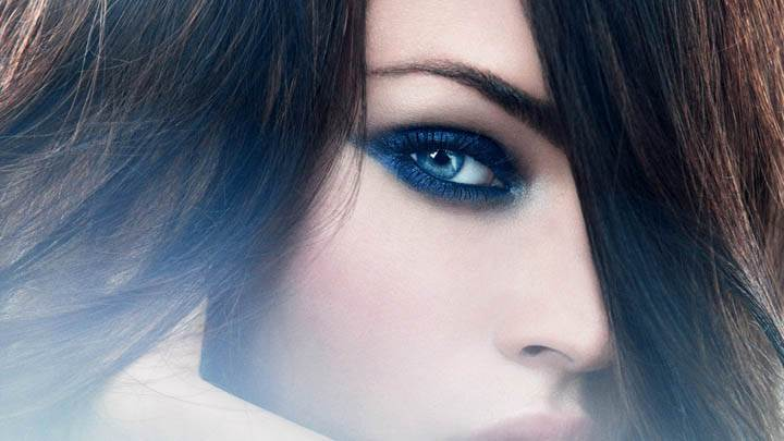 Megan Fox Face Closeup & Blue Eye