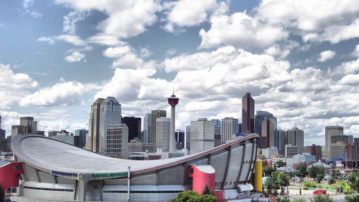 Saddledome Calgary At Morning