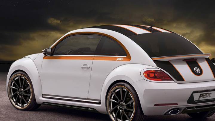 Side Back Pose Of ABT Volkswagen Beetle