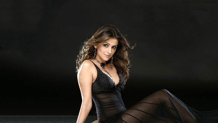 Aarti Chhabria Looking Front in Black Transparent Dress