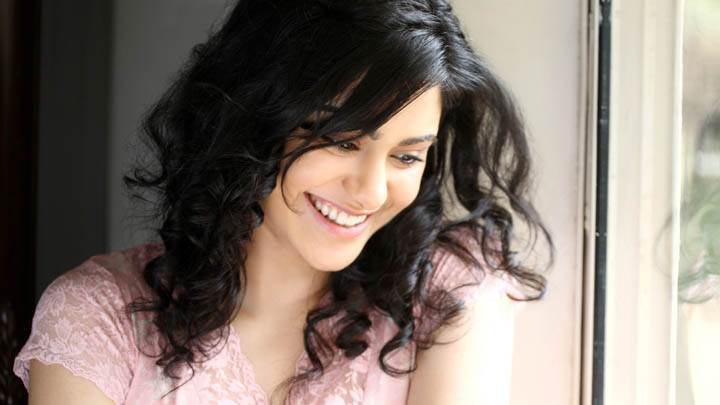 Adah Sharma Smiling in Pink Dress