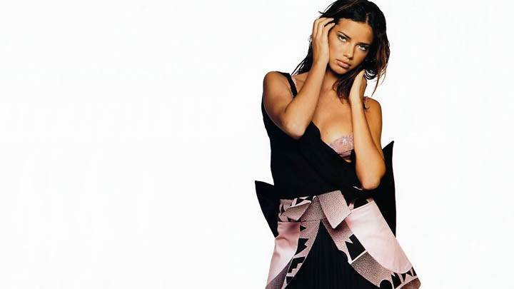 Adriana Lima Modeling Pose In Black Dress