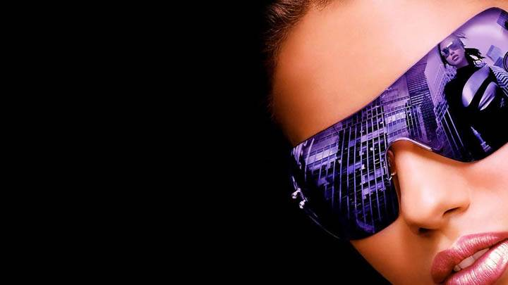 Adriana Lima in Black Goggles Face Closeup