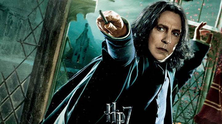 Alan Rickman Stick In Hand Harry Potter And The Deathly Hallows Part 2