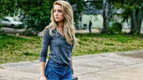 Amber Heard Looking Back in Movie Drive Angry