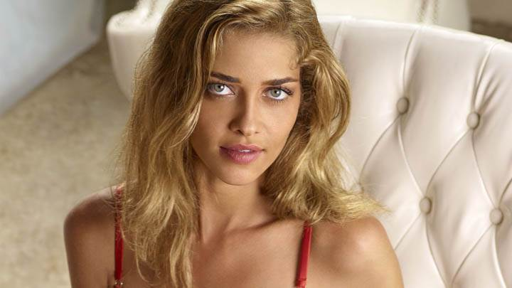 Ana Beatriz Barros Sitting on Sofa Looking Front