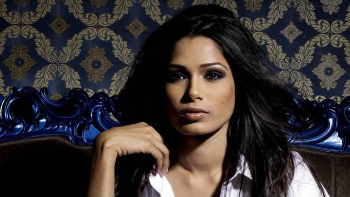 Freida Pinto Wet Lips Looking Front Photoshoot