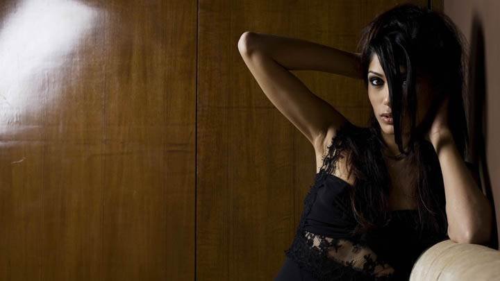 Freida Pinto in Black Dress Front Pose