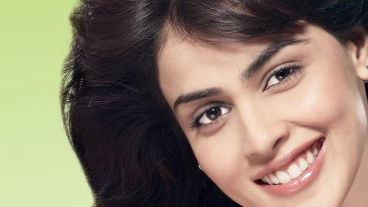 Genelia D'Souza Smiling Cute Face Closeup