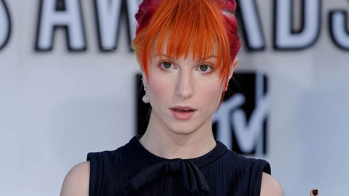 Hayley Williams in Black Dress Closeup