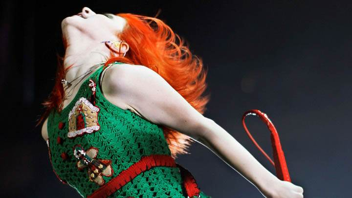 Hayley Williams in Green Dress