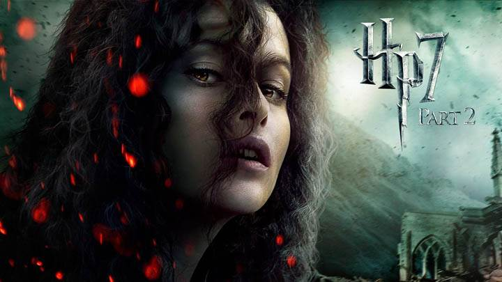 Helena Bonham Carter Face Closeups In Harry Potter And The Deathly Hallows Part 2