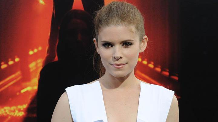 Kate Mara Smiling in White Dress Closeup Pose