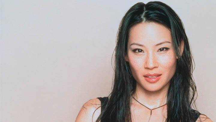Lucy Liu Red Lips Face Photoshoot