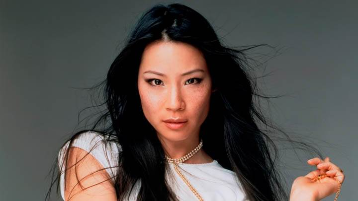 Lucy Liu Looking Front in White T-shirt