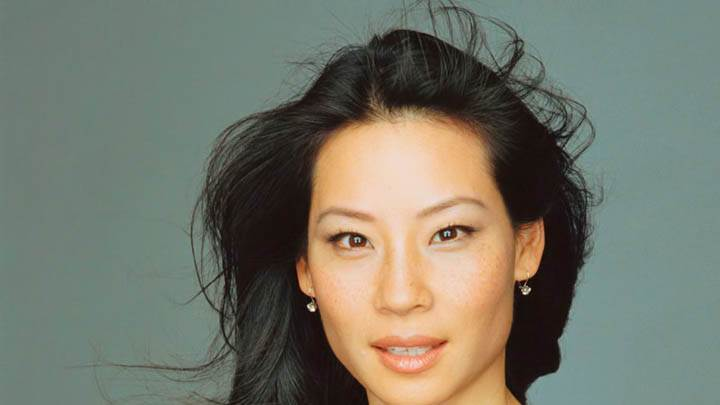 Lucy Liu Smiling & Pink Lips Closeup
