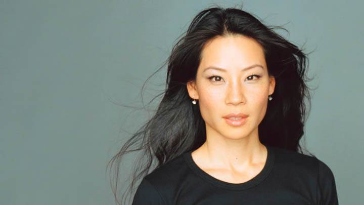 Lucy Liu in Black T-shirt Closeup
