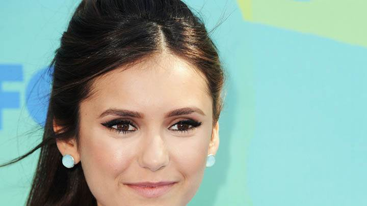 Nina Dobrev Smiling & Glossy Pink Lips in Event