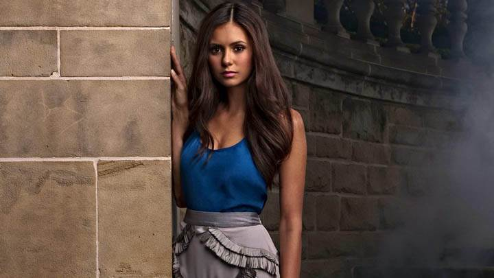 Nina Dobrev Standing with Wall Photoshoot