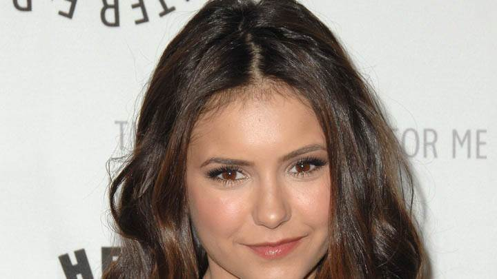 Nina Dobrev Wet Lips & Brown Eyes Face Closeup