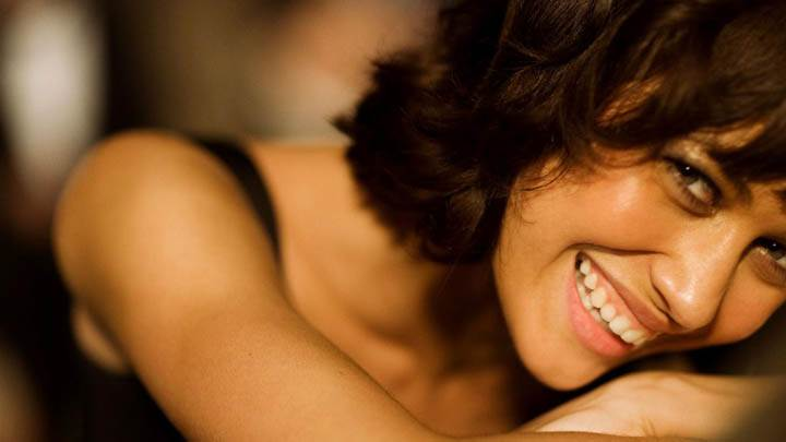 Olga Kurylenko Smiling & Face Closeup Pose