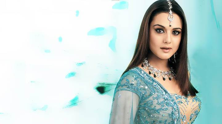 Preity Zinta – In Blue Transparent Dress