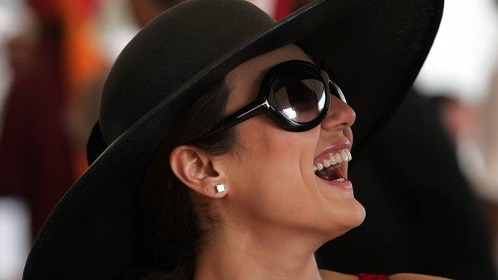 Preity Zinta – Laughing & Wearing Black Hat
