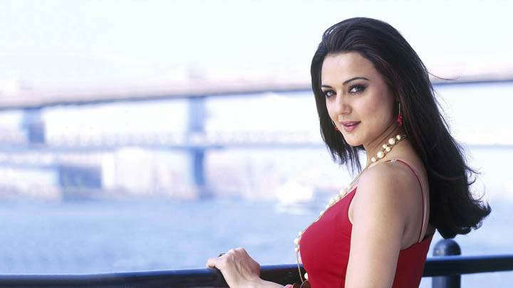 Preity Zinta – Looking Sweet In Red Dress