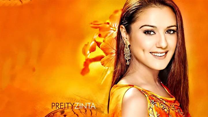 Preity Zinta – Smiling In A Orange Suit