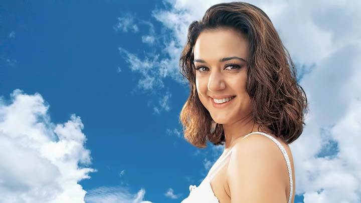 Preity Zinta – Smiling In White Dress