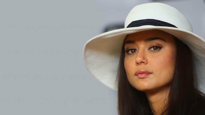 Preity Zinta – Wearing A White Hat