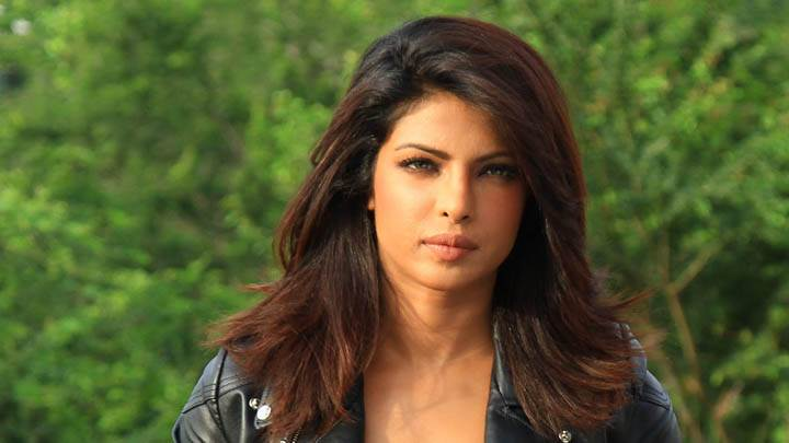 Priyanka Chopra Looking Font in Black Jacket