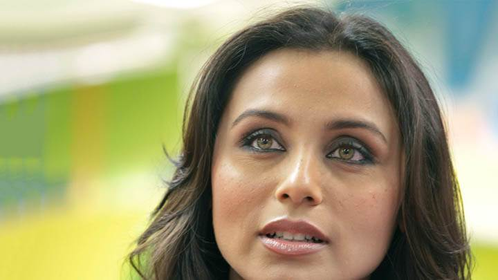 Rani Mukherjee Brown Eyes Face Closeup
