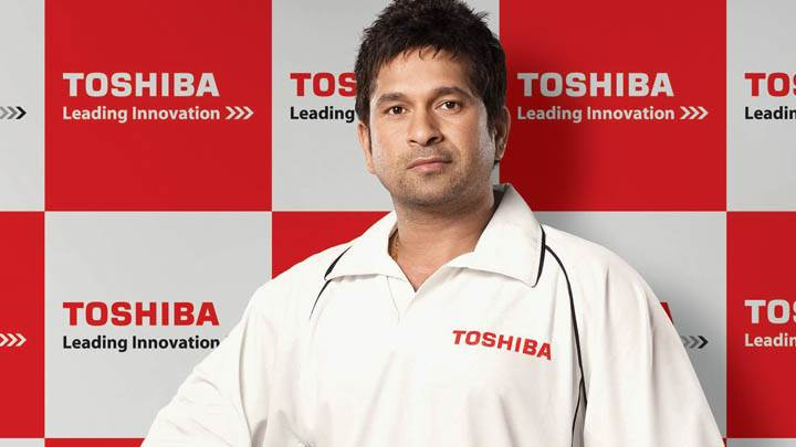 Sachin Tendulkar at Toshiba Event