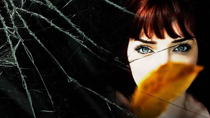 Susan Coffey Face Closeup in Broken Mirror