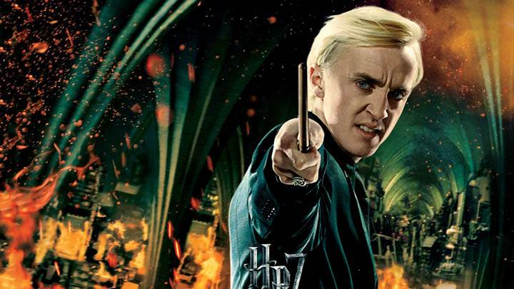 Tom Felton Stick In Hand Harry Potter And The Deathly Hallows Part 2