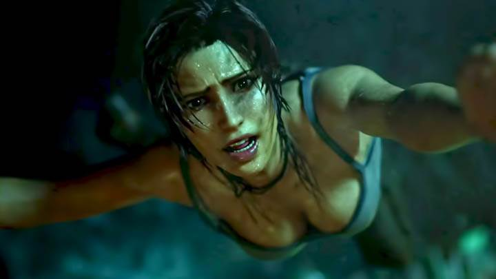 Tomb Raider – Lara Croft Using PDA