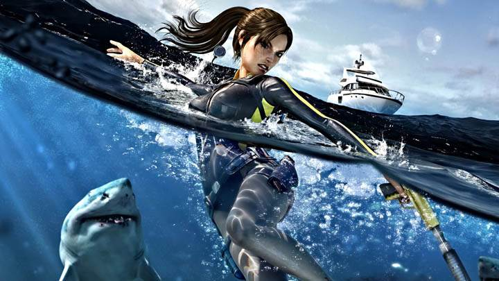 Tomb Raider – Fighting with Sharks